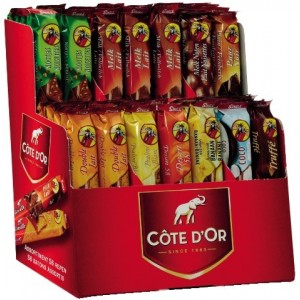 Bâtons Assortis Display 56 pcs Côte d'Or