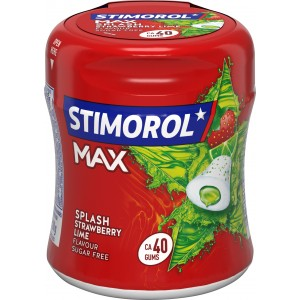 Bottle Max Strawberry Lime 6 x 88g Stimorol