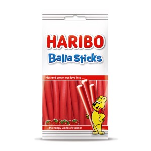 Balla Sticks Aardbei Flowpack 12 x 80g Haribo
