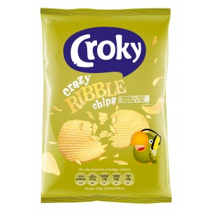 Crazy Ribble Chips Peper & Zout 20 x 40g Croky