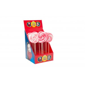 Sucette Spirale Rose-Blanc 17 x 80g