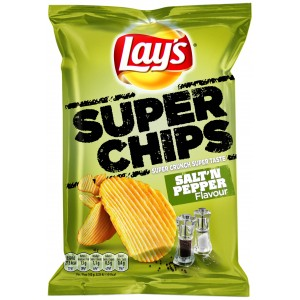 Lays Superchips Zout-Peper 20 x 200g